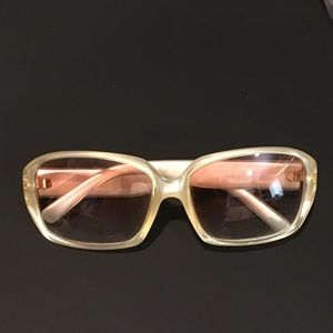 Vintage Versace sunglasses 90s 00s rose tinted